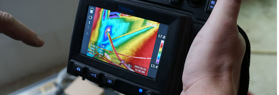 thermocamera luchtdichtheid